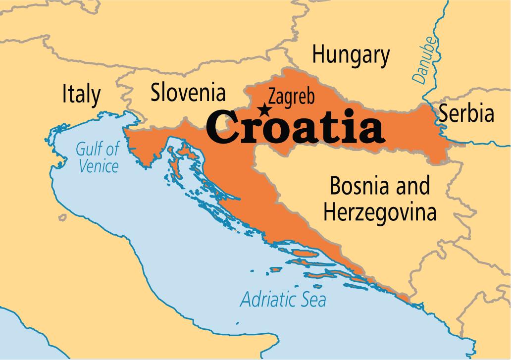 CROATIA , ZAGREB (10) Croatia, Croatia map, Zagreb