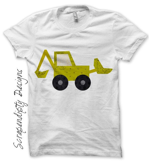 Bulldozer Iron on Transfer - Boys Iron on Shirt PDF / Kids Construction T Shirt / DIY Childrens Bulldozer Shirt / Cute Baby Clothes IT173. $2.50, via Etsy.