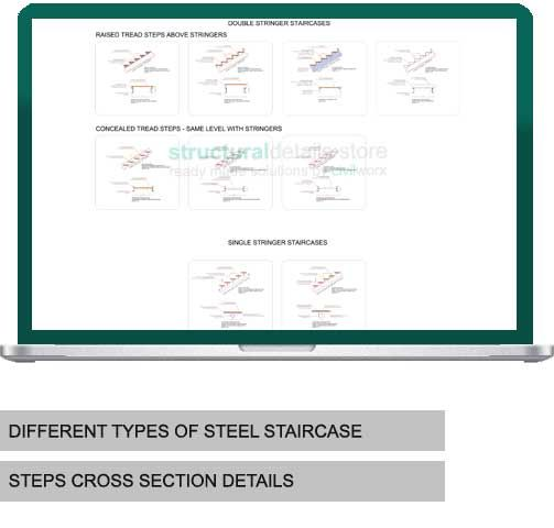 Different Types Of Staircases: Different Types Of Steel Stairs Tread Steps Details