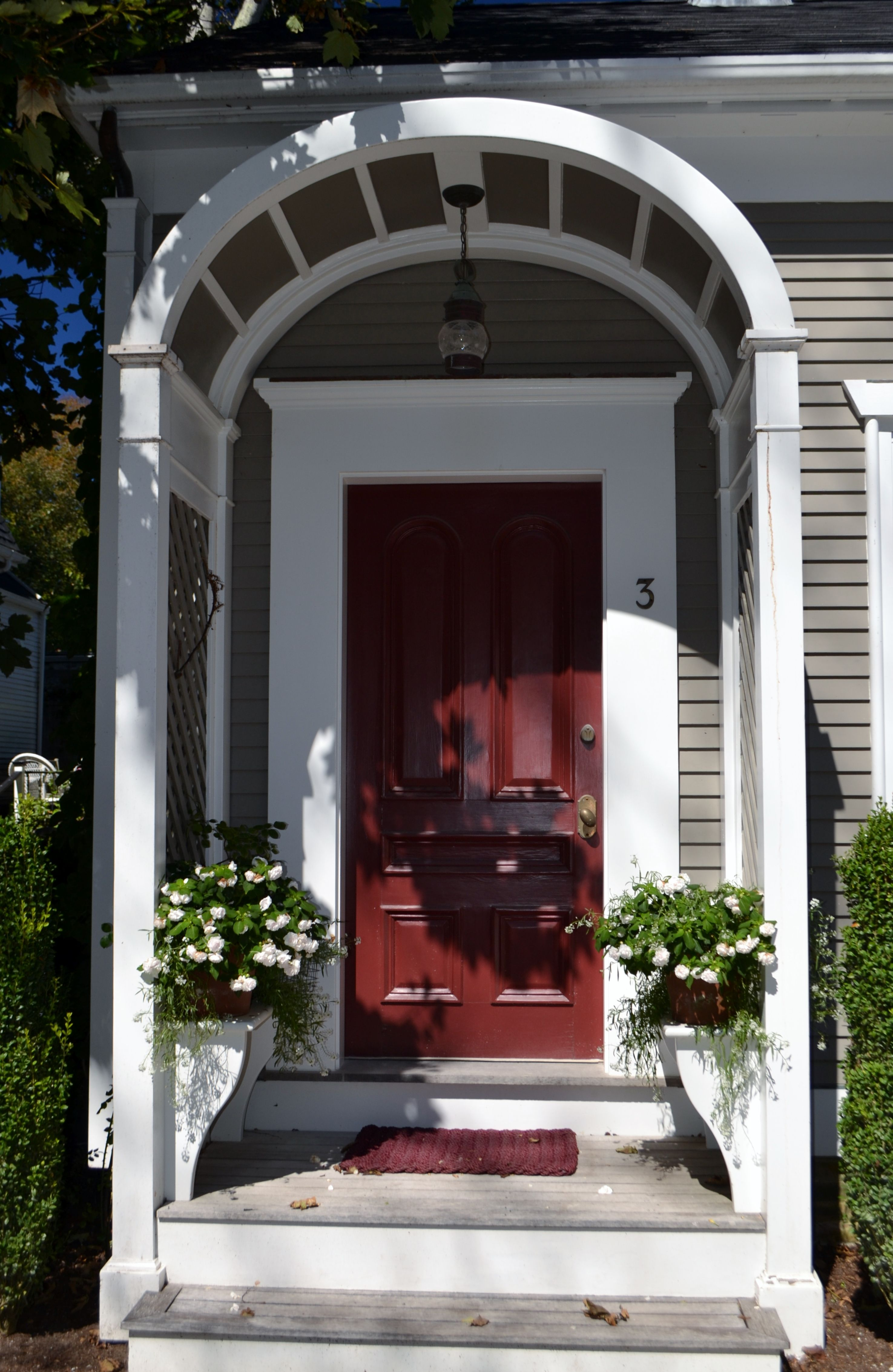 Such charming doors on the homes of Nantucket