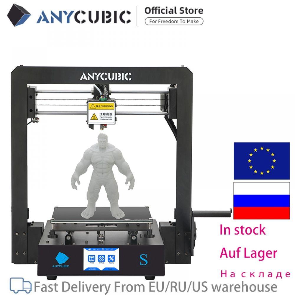 Anycubic Mega S 3d Printer I3 Mega Upgrade Large Size Metal Frame Tpu High Precision Touch Screen Diy 3d Printer Kit Impressora 3d Printer Kit 3d Printer Diy Printer