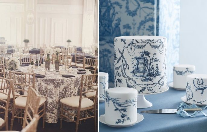 French Dressing: Toile Wedding Style & Decor | Dressing, French and ...