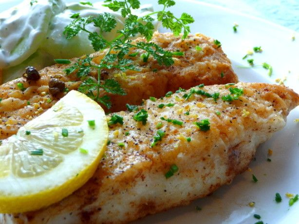 Tender halibut with a suprisingly light and brightly flavored lemon cream sauce.