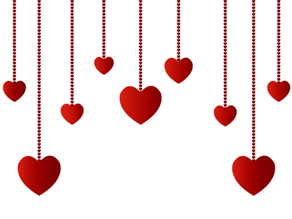 Hanging Hearts Decoration Png Picture Hanging Hearts Valentine Heart Images Valentine Clipart