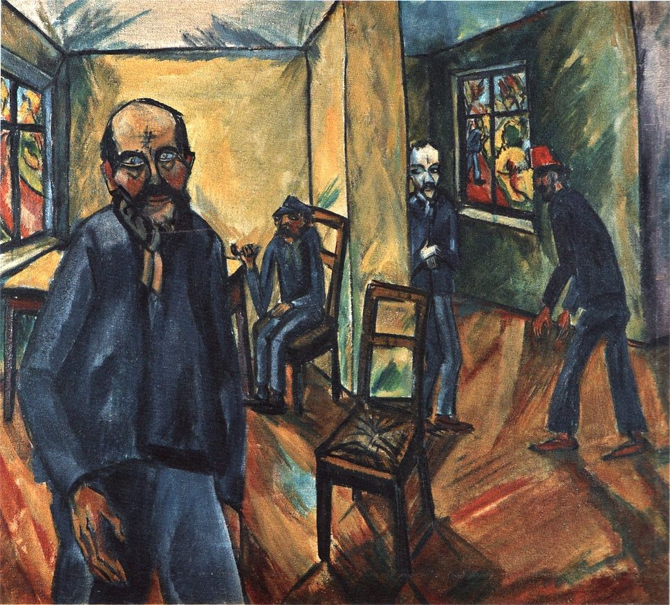 Erich Heckel, The Madhouse, 1914