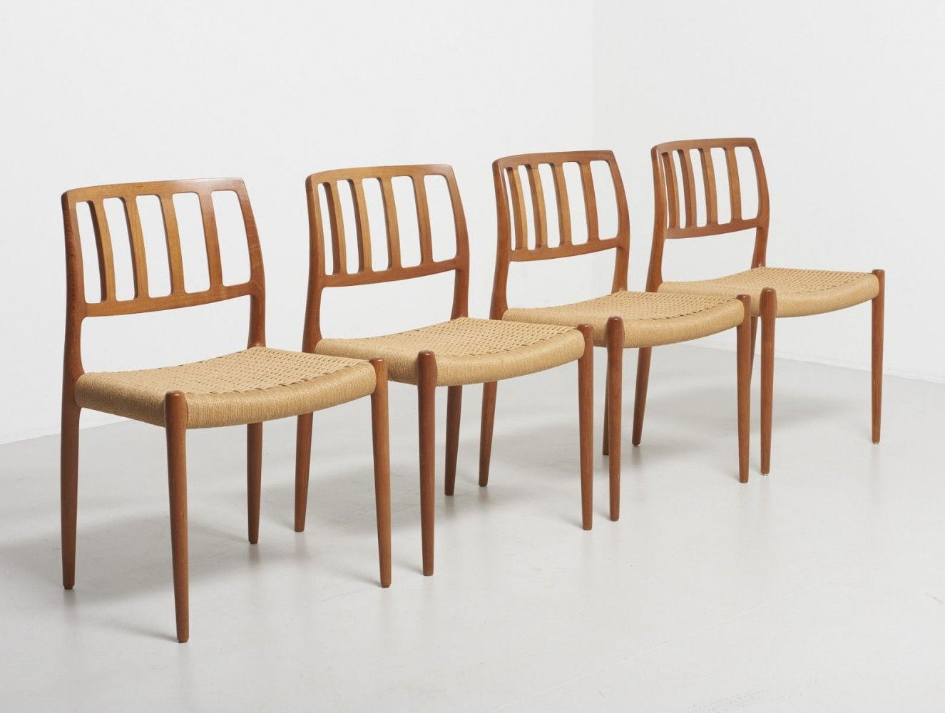 For sale Set of 4 Model 83 dining chairs by Niels O