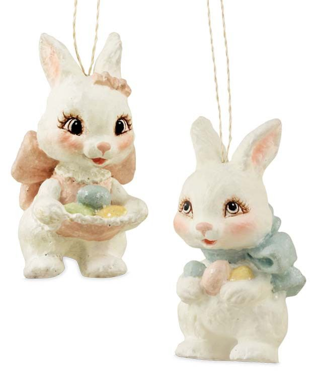 sweet easter bunny ornaments