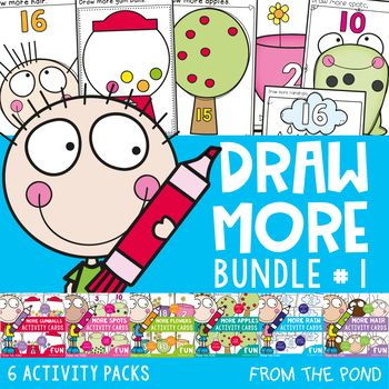 Draw More\' Counting Number Activity Cards - Math Centers | Number ...