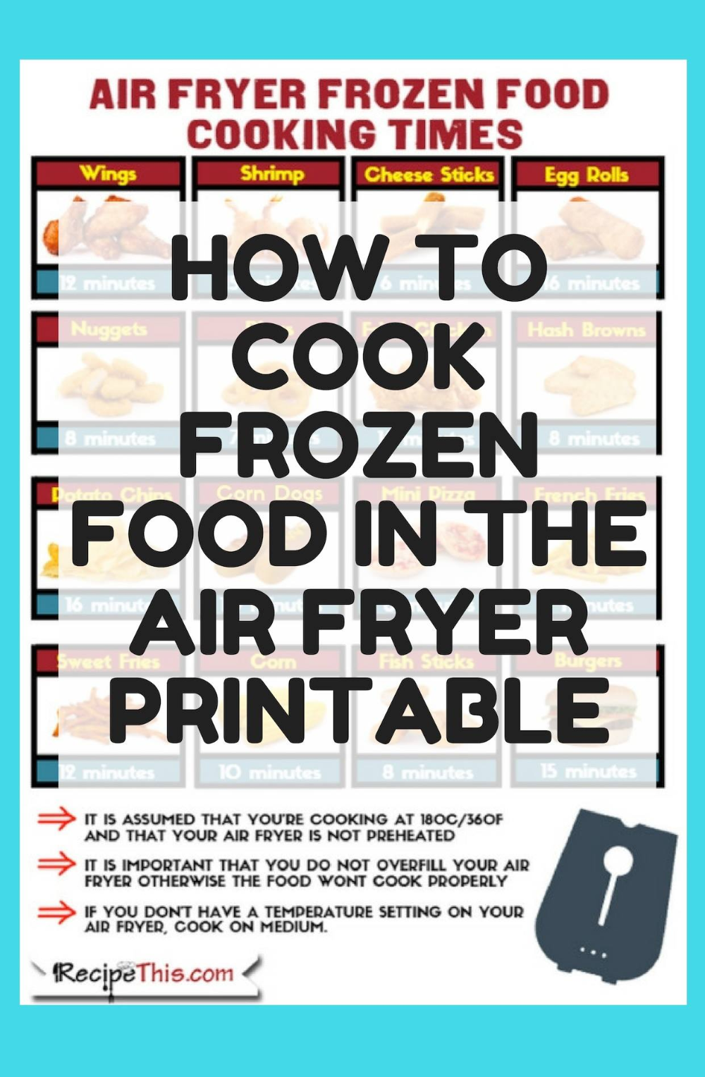 Air Fryer Frozen Food For Beginners Recipe This in 2020