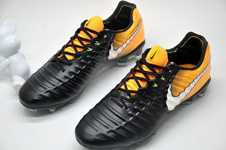 05c8487e8 Nike Tiempo Legend VII FG K-Leather Soccer Cleats Black Yellow White ...