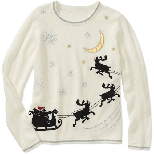 White Stag Women's Reindeer Christmas Sweater | Funny Christmas ...