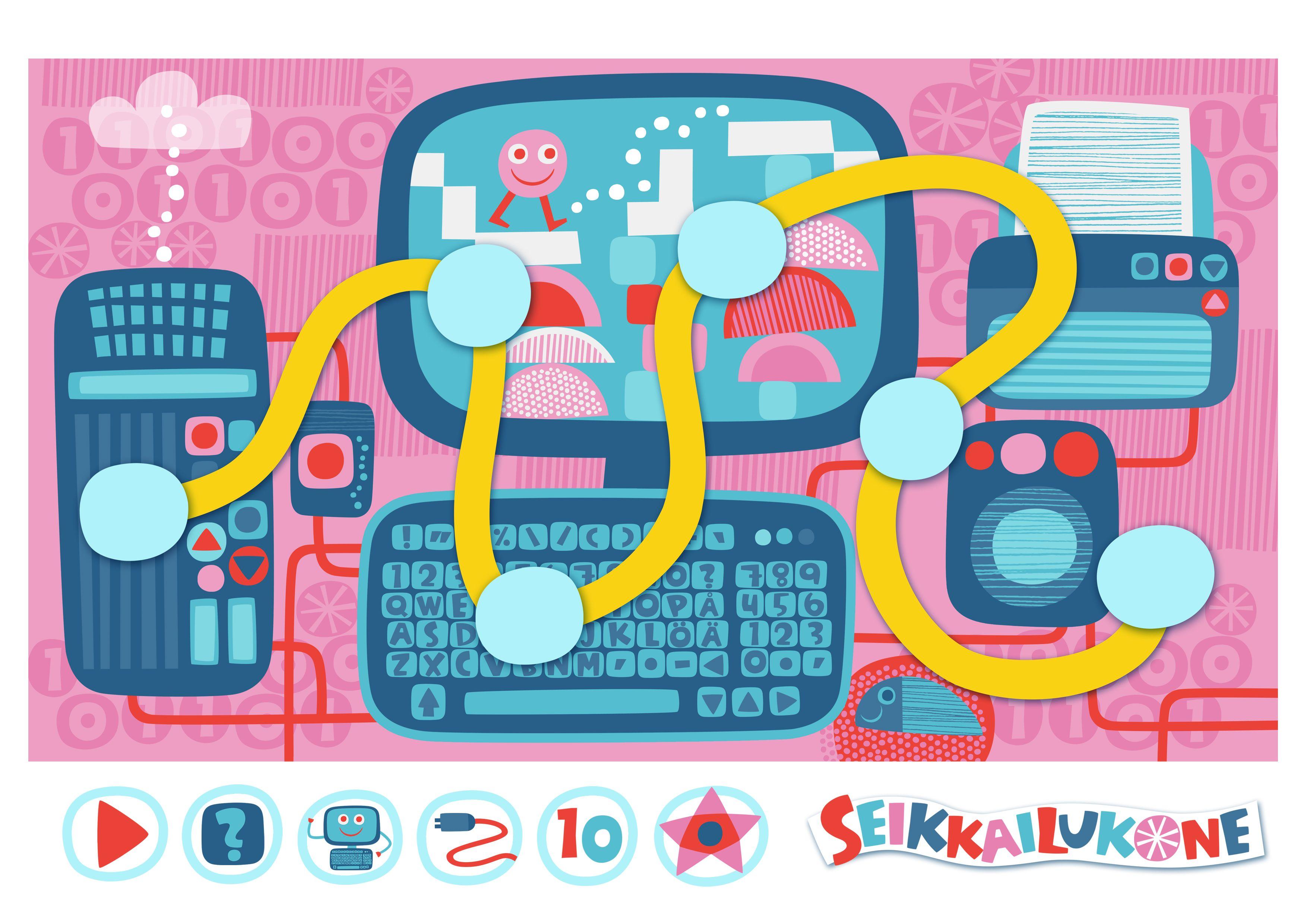 Seikkailukone | tulostettava | paperi | kartta | peli | tehtävä |  tietokone | lapset | game | map | children | kids | free printable | Pikku Kakkonen
