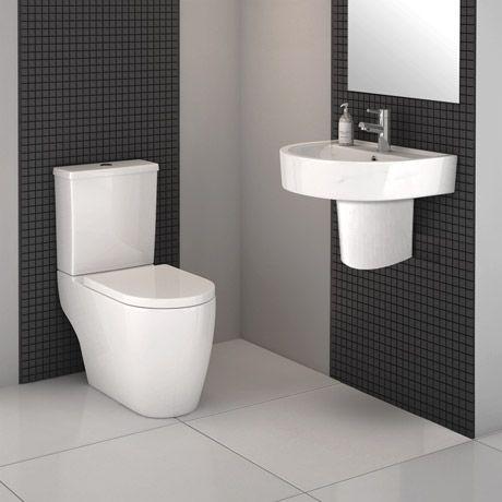 Bianco modern cloakroom suite cloakroom suites modern for Modern bathroom suites ideas