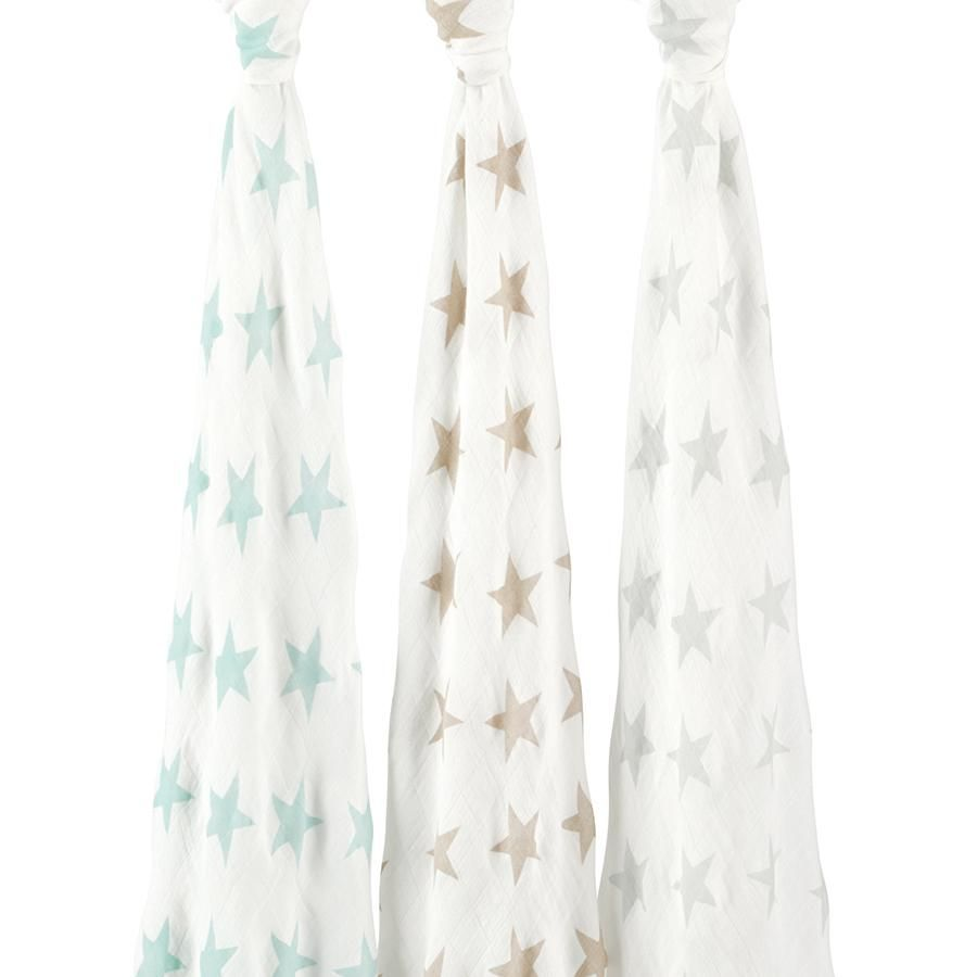 Aden And Anais Swaddle Blankets Pleasing Silky Soft Swaddles  Milky Way 3Pack  Muslin Baby Wraps  Star Design Inspiration