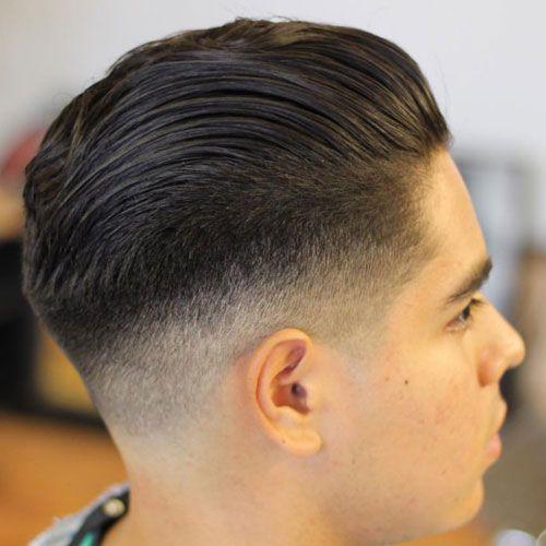 Wonderful Slick Back Hair + High Taper Fade