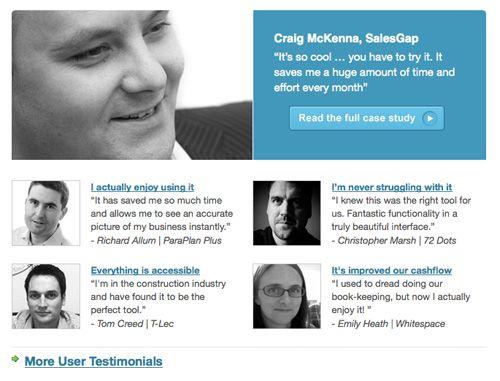 Testimonial page layout MJC Website Pinterest Website - website quotation