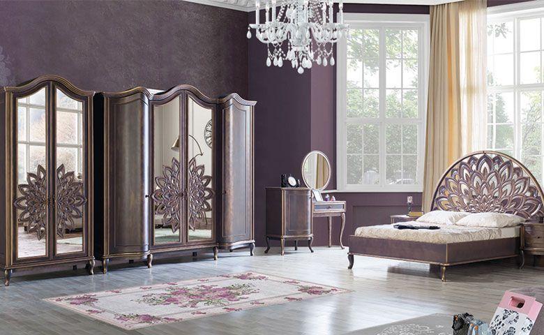 غرفة نوم نارا الكلاسكي غرف نوم دائرية كلاسيكية من اجمل غرف النوم للموسم الجديد مع امكانية تغيير لون الده Luxury Bedroom Sets Luxurious Bedrooms Classic Bedroom