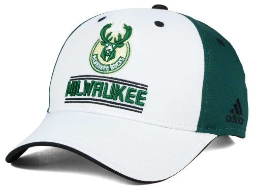 ceb6d5f39e0 Milwaukee Bucks adidas NBA Playmaker Adjustable Cap Hats