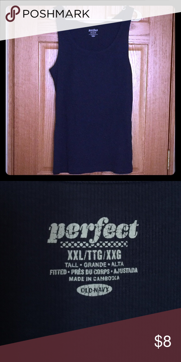 Navy Ribbed Tank Ribbed Navy Blue Tank. Can be worn alone or layered under a tee or sweater. Old Navy Tops Tank Tops
