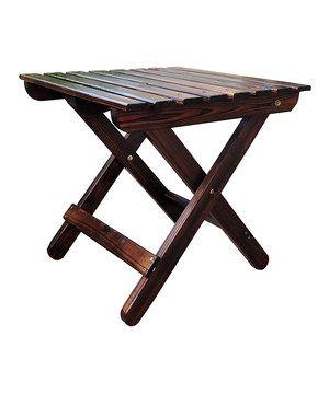 Burnt Brown Adirondack Folding Table By Shine Company Inc