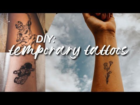 Photo of DIY: temporary tattoos using printer paper and ink!