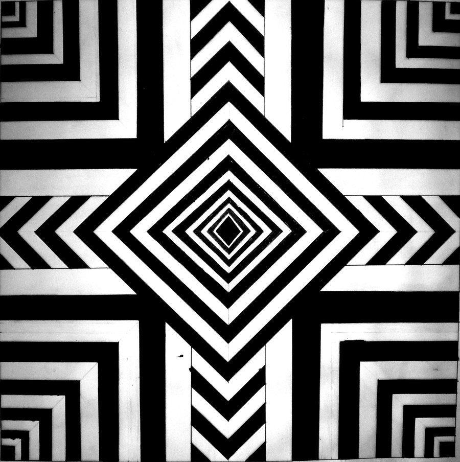 easy optical illusions - 736×739