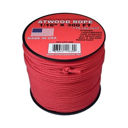 Red 1 16 Mini Cord 300 Feet Mini Cord Red