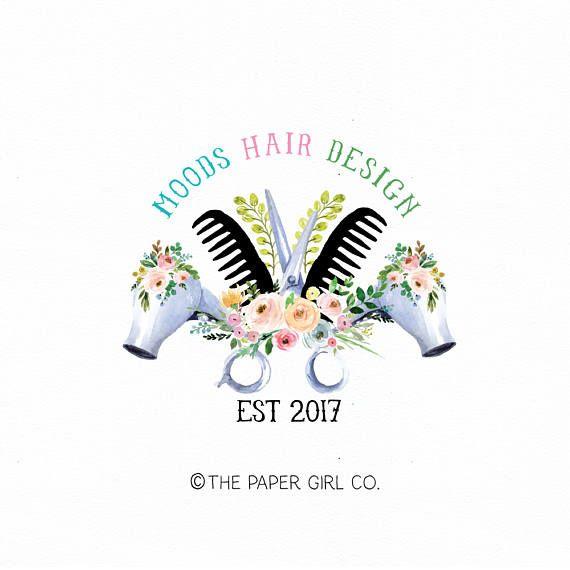 Hair Clip Logo Hair Stylist Logo Hair Salon Logo Beauty Shop Logo