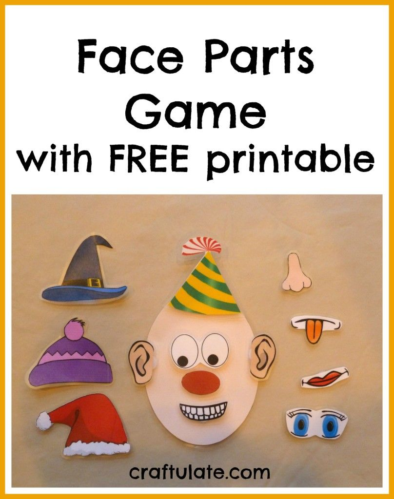 craftulate face parts game with free printable craftulate crafts for kids craft. Black Bedroom Furniture Sets. Home Design Ideas