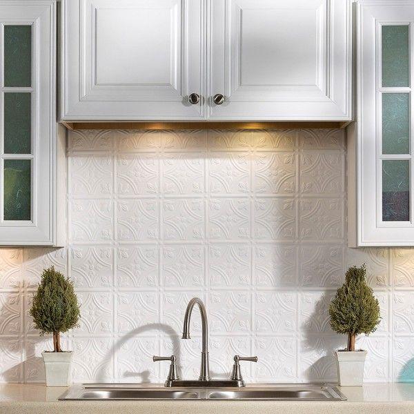 Fasade Traditional Style 1 Gloss White Backsplash Panel