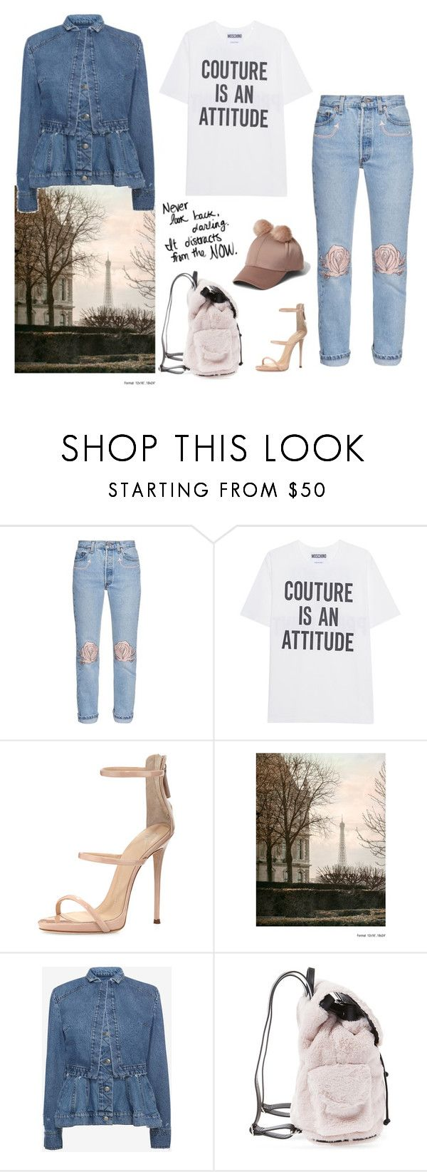 """""""Untitled #502"""" by fashionlover-1995 ❤ liked on Polyvore featuring Bliss and Mischief, Moschino, Giuseppe Zanotti, WALL, Alexander McQueen, Steve Madden, River Island and modern"""