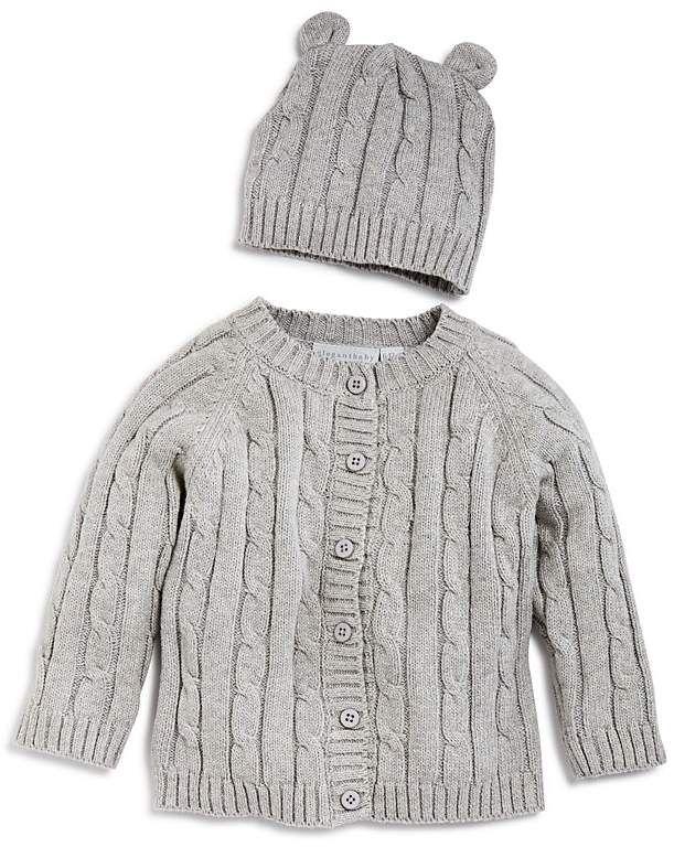 542cdb47639 Elegant Baby Unisex Cable-Knit Sweater   Beanie Gift Set - Baby ...