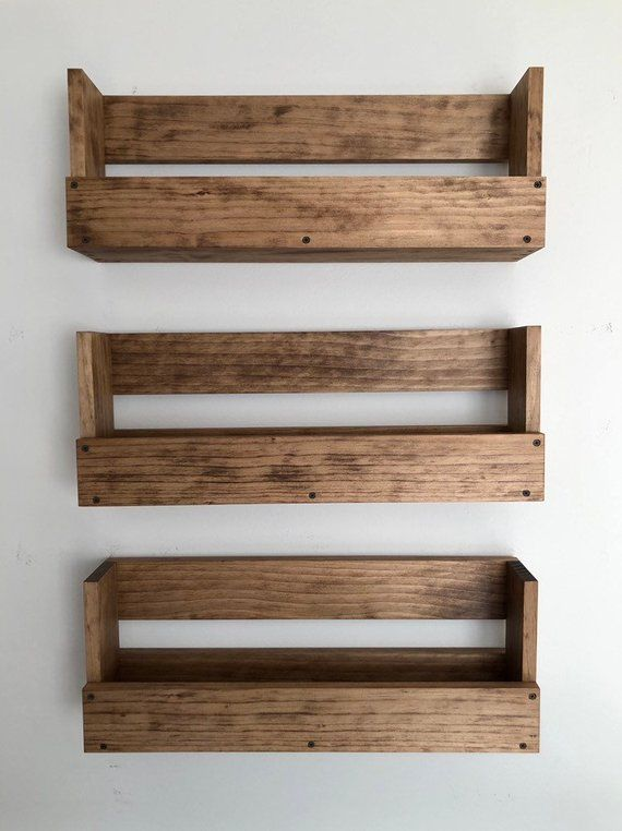 Kids Room Wall Hanging Book Shelves Nursery Book Shelves Set Etsy In 2020 Bookshelves Diy Diy Hanging Shelves Bookshelves Kids
