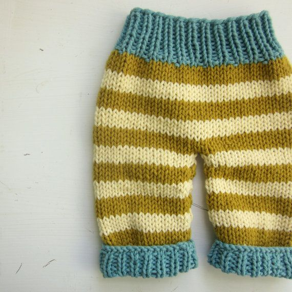 Knitting Pattern Newborn Baby Pants Pdf Pattern Immediate