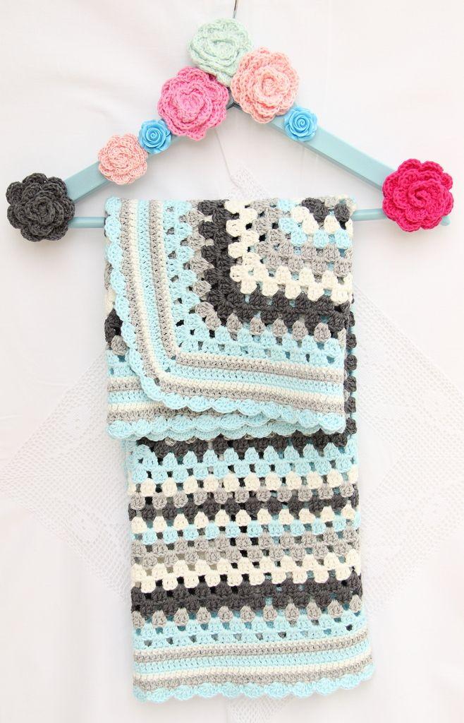 Pin de Alejandra en crochet   Pinterest   Manta, Mantas tejidas y ...