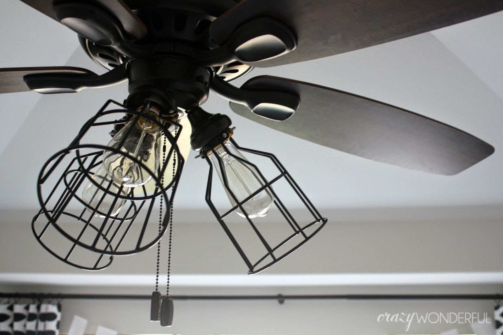 Crazy Wonderful Diy Cage Light Ceiling Fan Ceiling Fan Light Kit Ceiling Fan Light Cover