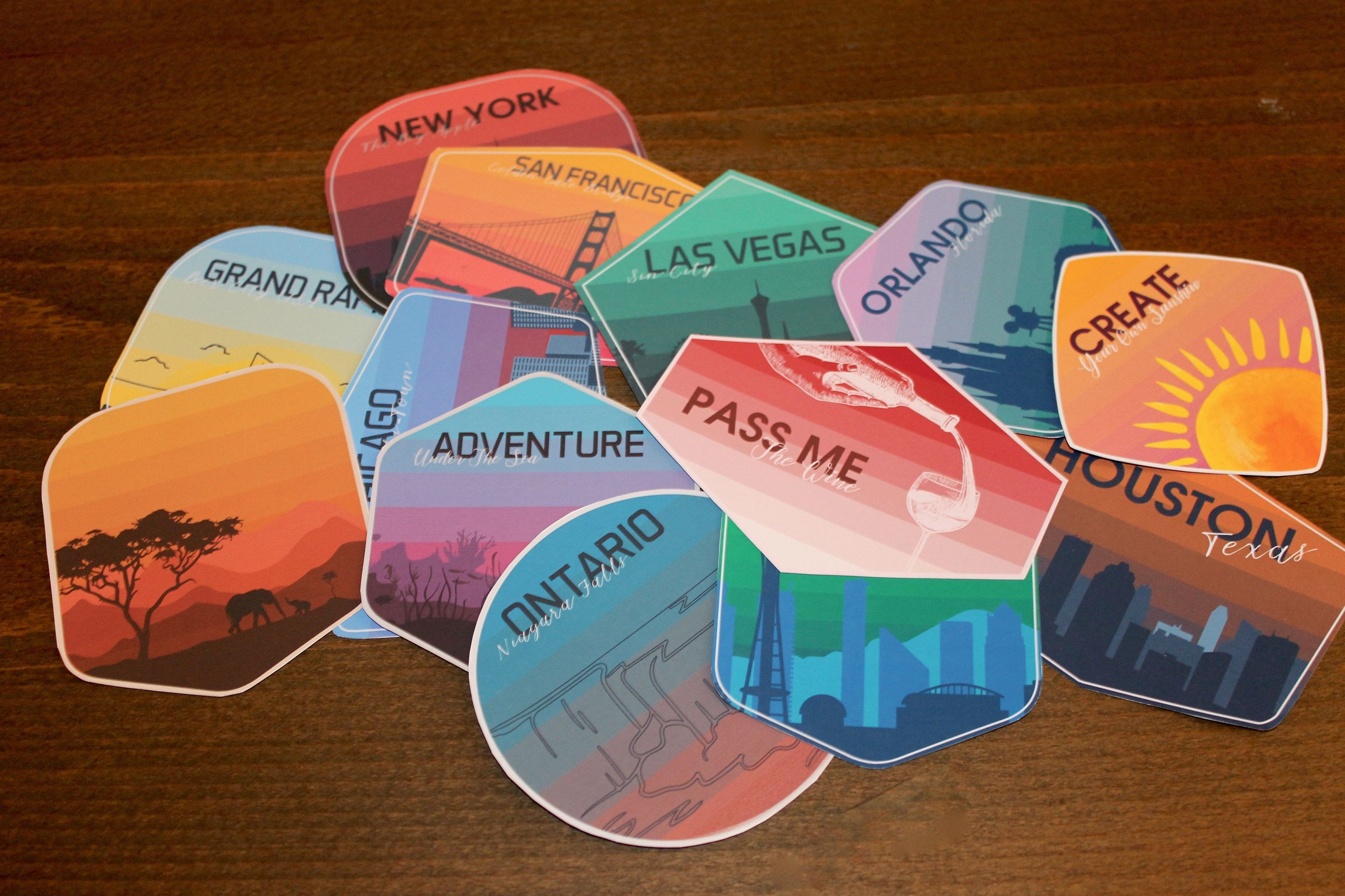 Variety Pack Of Glossy Stickers Pick And Choose Laptop