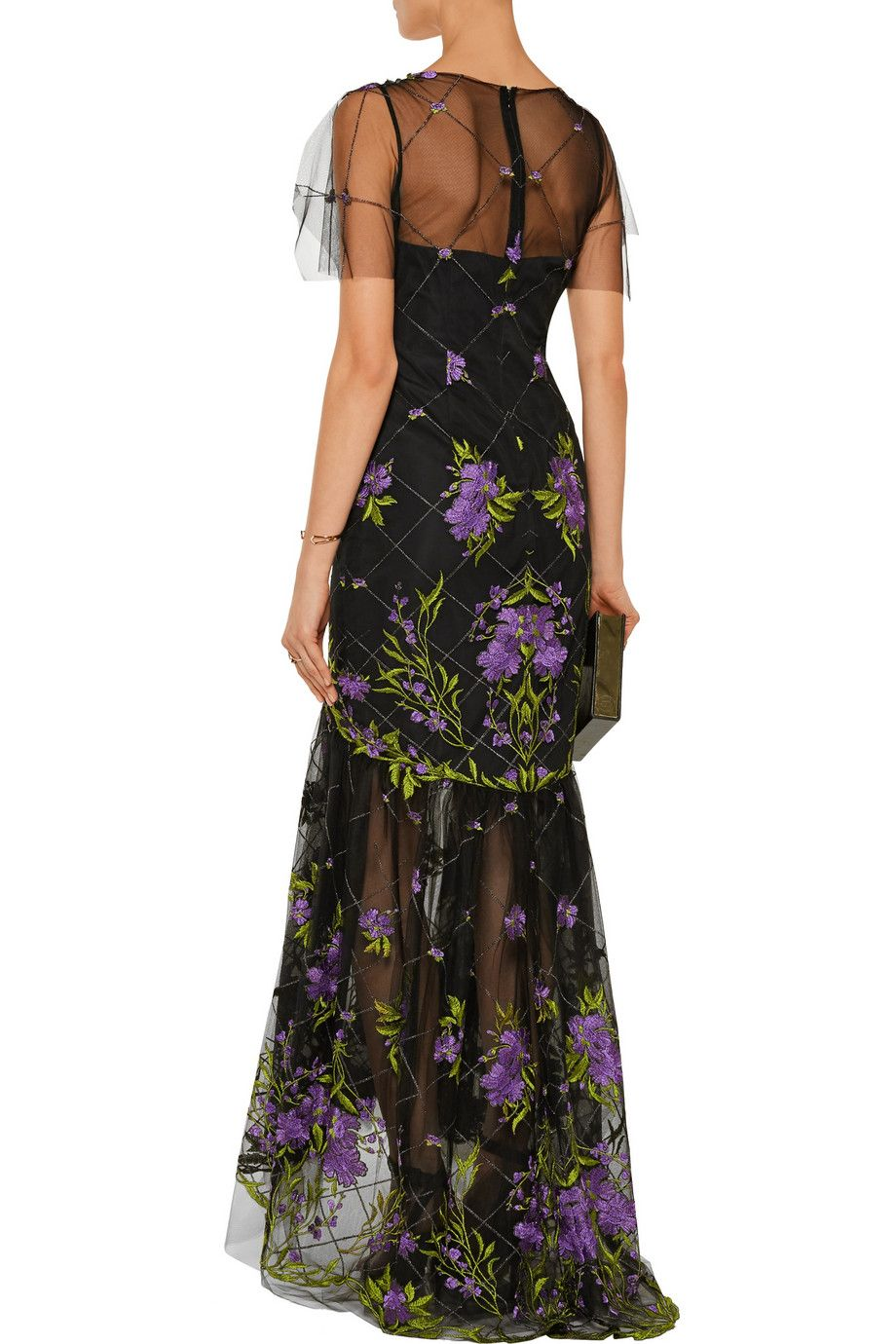 Marchesa NotteEmbroidered tulle gownback
