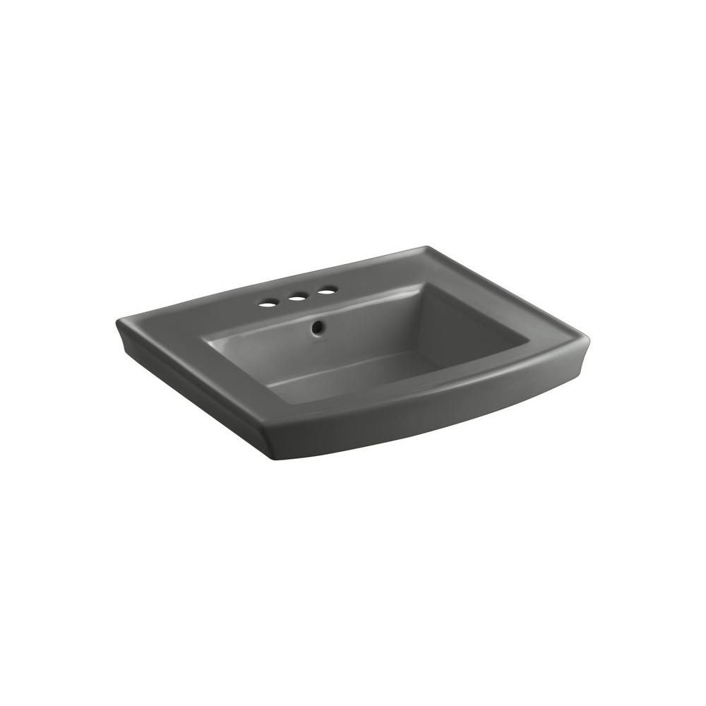 Kohler Archer 7 875 In Vitreous China Pedestal Sink Basin In