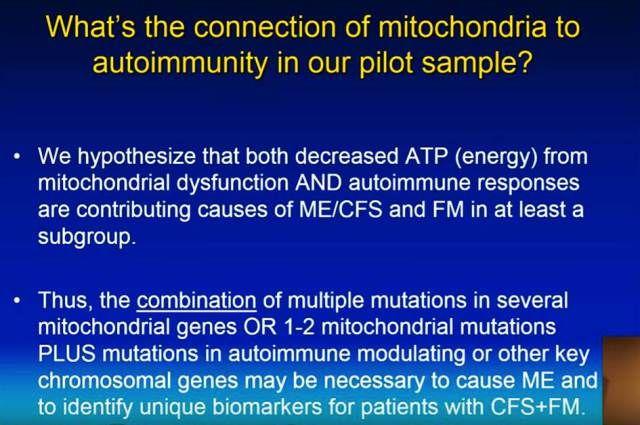 [Myalgisk Encefalopati, Fibromyalgi, mitokondrier, endring i  mitokondrielt DNA, autoimmunitet]