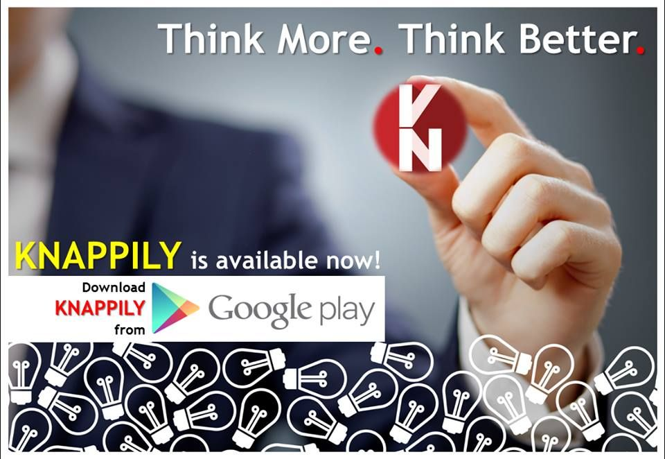 The wait is over!! Get Knappily on Google play! :)