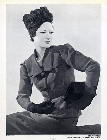 Schiaparelli 1936 Fashion Photography Anzon Original Fashion Print Vintage Fashion Photography Schiaparelli Vintage Couture