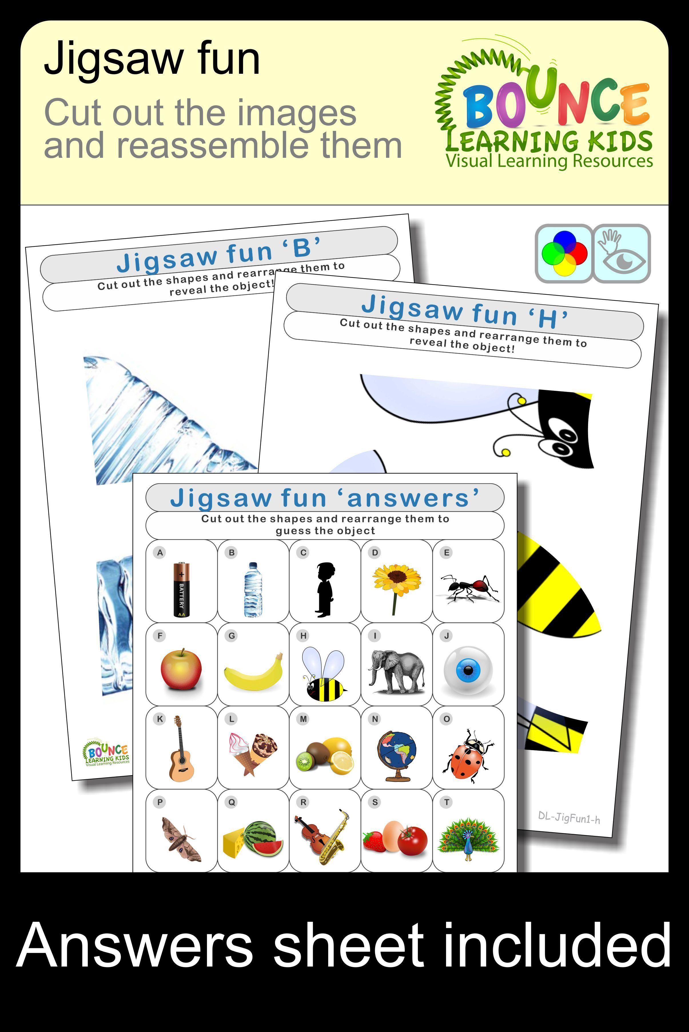 Jigsaw Fun 26 Distance Learning Hand Eye Coordination Sheets