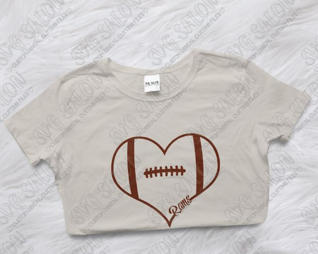 Los Angeles Rams Fan Football Laces Heart Custom DIY Vinyl Shirt - Custom vinyl decals cutter for shirts