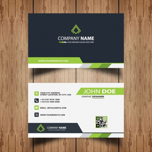 Professional business card free vector card pinterest professional business card free vector reheart Gallery