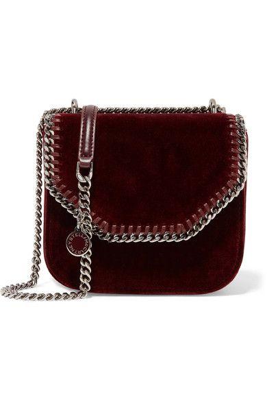 Stella McCartney The Falabella Box mini velvet shoulder bag €750  NET-A-PORTER.COM a76834f546