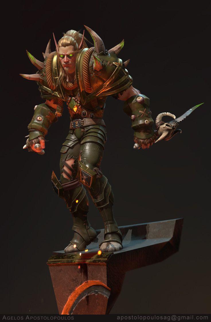 Blood-Elf Rogue by Agelos Ap.