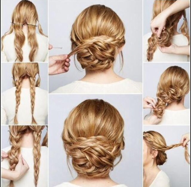A cute up-do I found