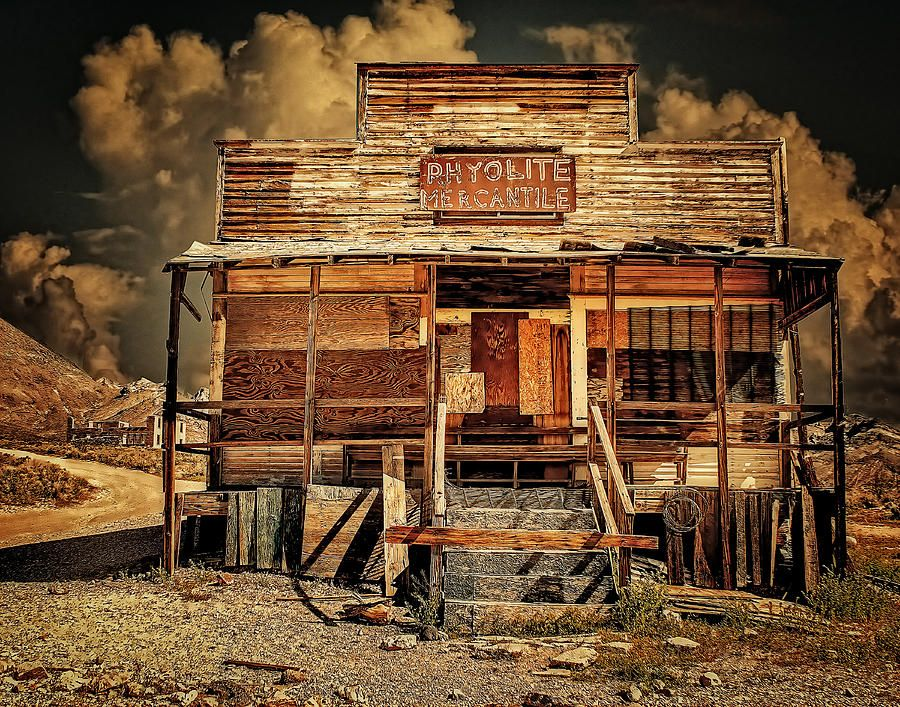 Rhyolite is a ghost town in Nye County, Nevada  It is in the
