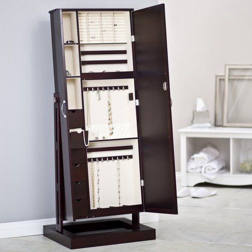 Bordeaux Cheval Mirror Jewelry Armoire 400 At Walmart